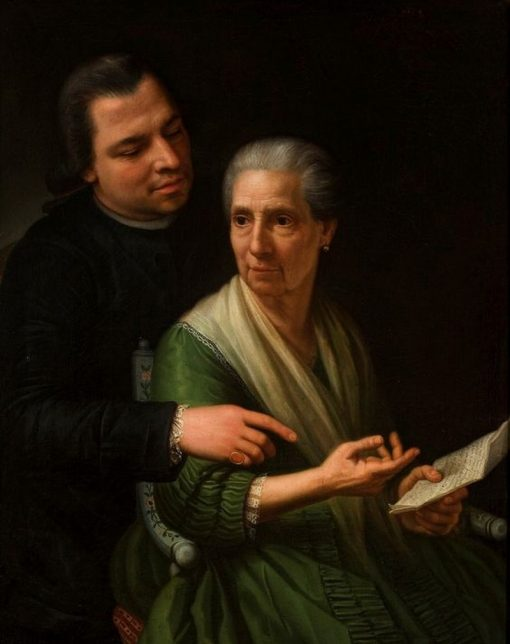 Portrait of Mother and Brother | Marcello Bacciarelli | Oil Painting