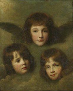 The Three Daughters of the Reverend Sir Herbert Croft | Lemuel Francis Abbott | Oil Painting