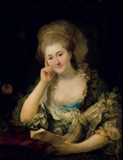 Portrait of Magdalena Agnieszka Sapie?yna nee Lubomirska