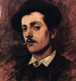 Ritratto del giovane Puccini al tempo di Le Villi e di Edgar | Giorgio Lucchesi | Oil Painting