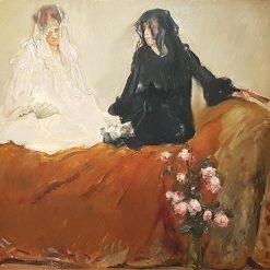 La dame blanche et la dame noire | Max Slevogt | Oil Painting
