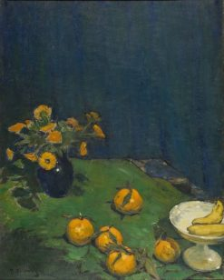Blue Still-Life with Oranges | Pyotr Nilus | Oil Painting