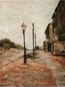A Street   Pyotr Nilus   Oil Painting