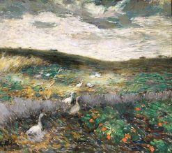 Field with Geese | Pyotr Nilus | Oil Painting