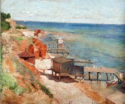 Bathing Cabins | Pyotr Nilus | Oil Painting