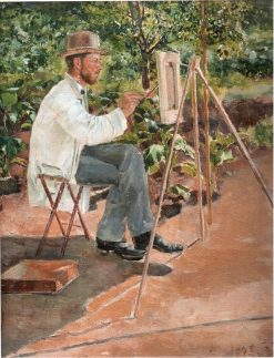 Painter Bukovetsky at Work | Pyotr Nilus | Oil Painting