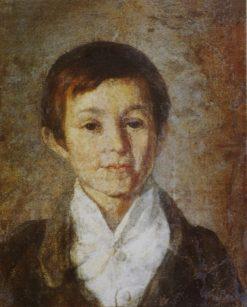 Portrait of K. Milyukov in His Childhood | Grigory Soroka | Oil Painting