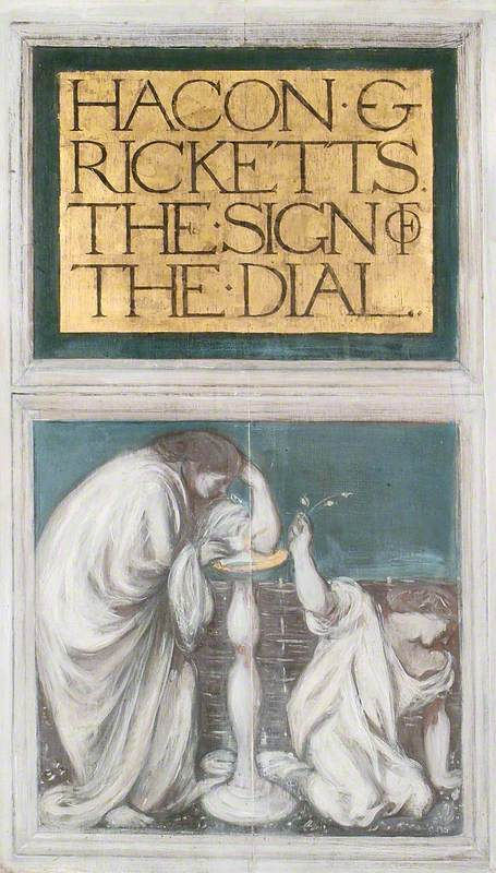 At the Sign of the Dial   Charles Haslewood Shannon   Oil Painting