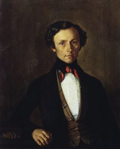 Portrait of V.A. Preobrazhensky | Grigory Soroka | Oil Painting