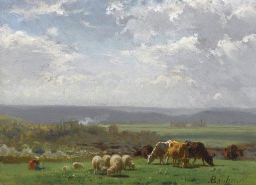 Paturage en Auvergnee | Auguste Bonheur | Oil Painting