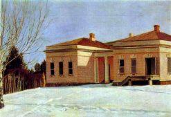 House in Ostrovki | Grigory Soroka | Oil Painting