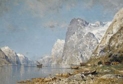 A Norwegian Fjord | Walter Moras | Oil Painting