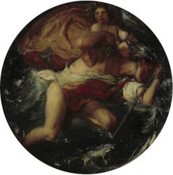 Hermes and the Infant Bacchus | Charles Haslewood Shannon | Oil Painting