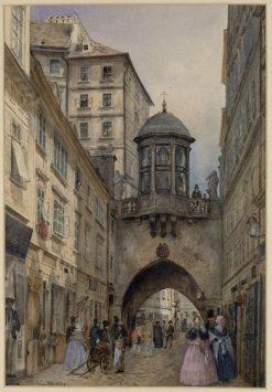 Der tiefe Graben in Wien | Franz von Alt | Oil Painting