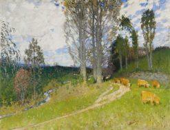 Cows Grazing | Pierre-Eugène Montezin | Oil Painting