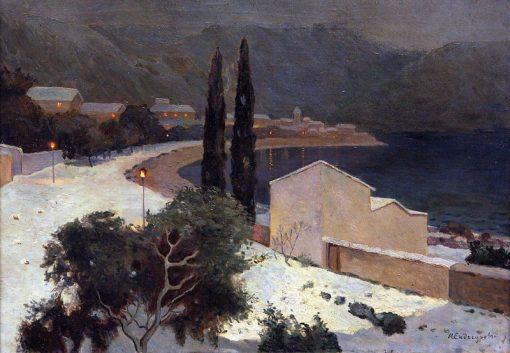 Moonlit Night in Ajaccio | Ivan Endogurov | Oil Painting