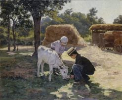 The Calf | Edwin Evans | Oil Painting