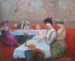 Une Soiree Parisienne | Eugene Chaffanel | Oil Painting
