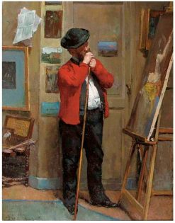 The Artist in His Studio | David Oyens | Oil Painting