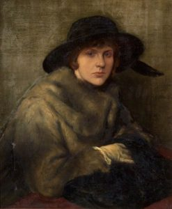 Lady in Grey Fur | Charles Haslewood Shannon | Oil Painting