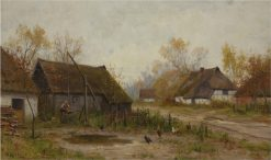 Farmhouses | Walter Moras | Oil Painting