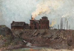 Blast furnace in Ruhrort | Walter Moras | Oil Painting