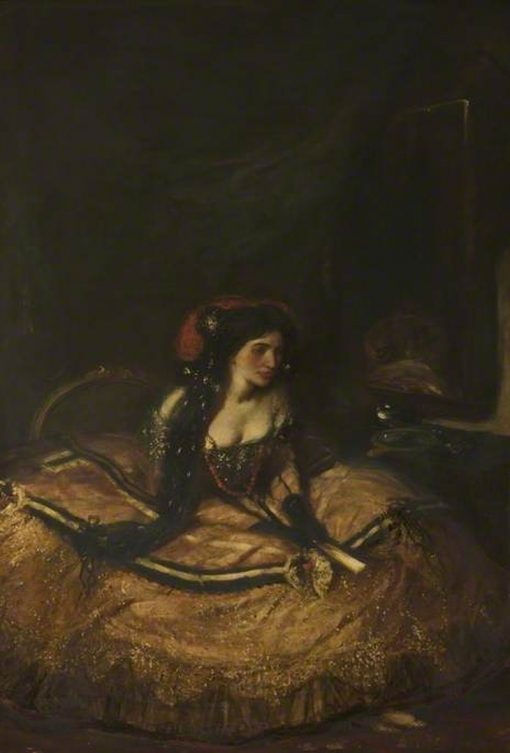 Lillah McCarthy as Donna Anna (from Don Giovanni by Mozart) | Charles Haslewood Shannon | Oil Painting