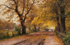 Alley in Autumn | Walter Moras | Oil Painting