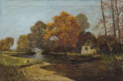 Autumnal Landscape in Spreewald | Walter Moras | Oil Painting