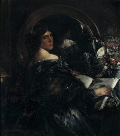 Mrs Patrick Campbell | Charles Haslewood Shannon | Oil Painting