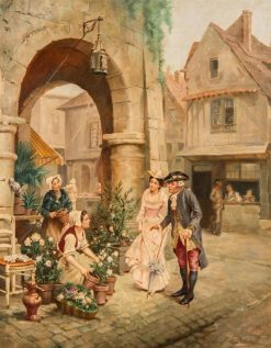 The Flower Seller | Emile Georges Weiss | Oil Painting