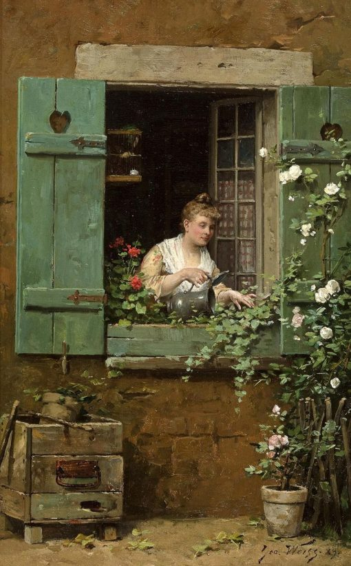 The Young Gardener | Emile Georges Weiss | Oil Painting