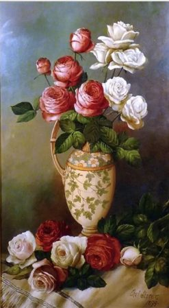 Floral Still Life with an Urn | Charles Storer | Oil Painting
