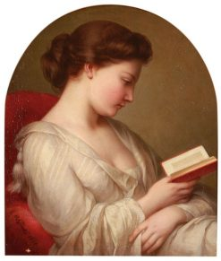 Reading | Charlemagne Oscar Guet | Oil Painting
