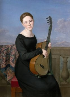 Young woman in the black dress