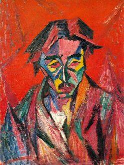 Self Portrait   Tetsugoro Yorozu   Oil Painting