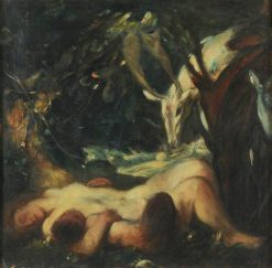 Study for The Sleeping Wood Nymph | Charles Haslewood Shannon | Oil Painting