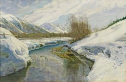 Early Spring in Engadine | Walter Moras | Oil Painting