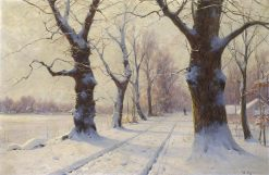 Alley in Winter | Walter Moras | Oil Painting