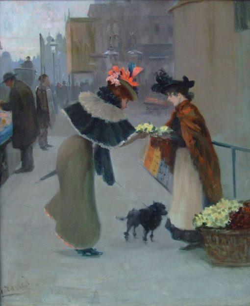 The Flower Seller   Albert Ludovici