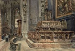 Tomb of Frederick III in the Stephanskirche | Rudolf von Alt | Oil Painting