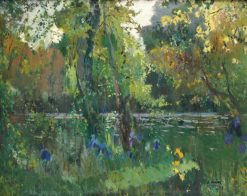 Riverbank in the forest | Joaquin Mir  Trinxet | Oil Painting