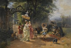 The Morning Promenade | Carl Böker | Oil Painting