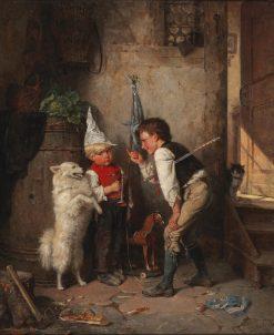 Little Recruits | Carl Böker | Oil Painting