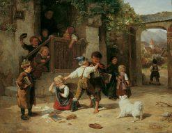 The Schoolyard | Carl Böker | Oil Painting