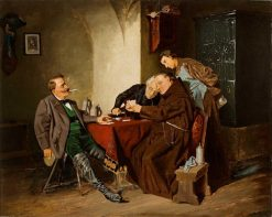 The Card Game | Carl Böker | Oil Painting