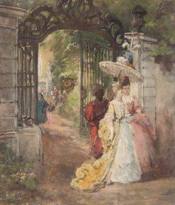 A Walk in the Park | Carl Böker | Oil Painting