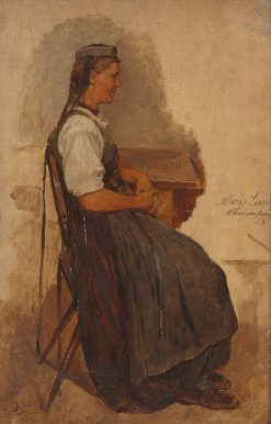 Woman at the Table | Carl Böker | Oil Painting