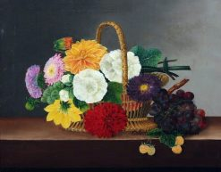 Flower still life with dahlias
