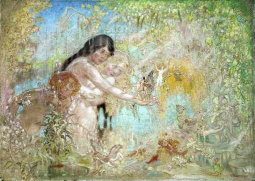 Fairy Woodland Scene | William Shackleton | Oil Painting